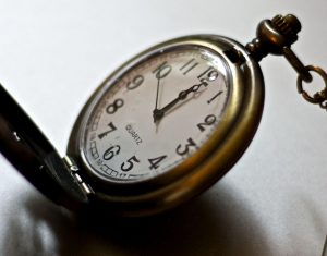 Pocket-watch indicating time, reflecting HOS rulings.